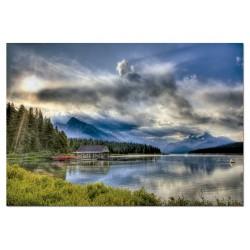 Malinge Lake Boathouse, Canada (1000)